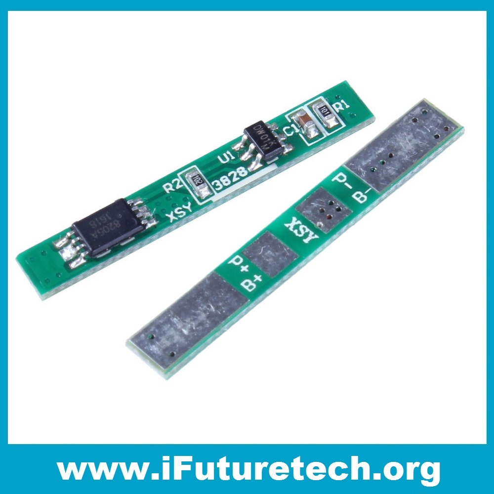3.7V 3A li-ion BMS PCM battery protection board pcm for 18650 lithium battery