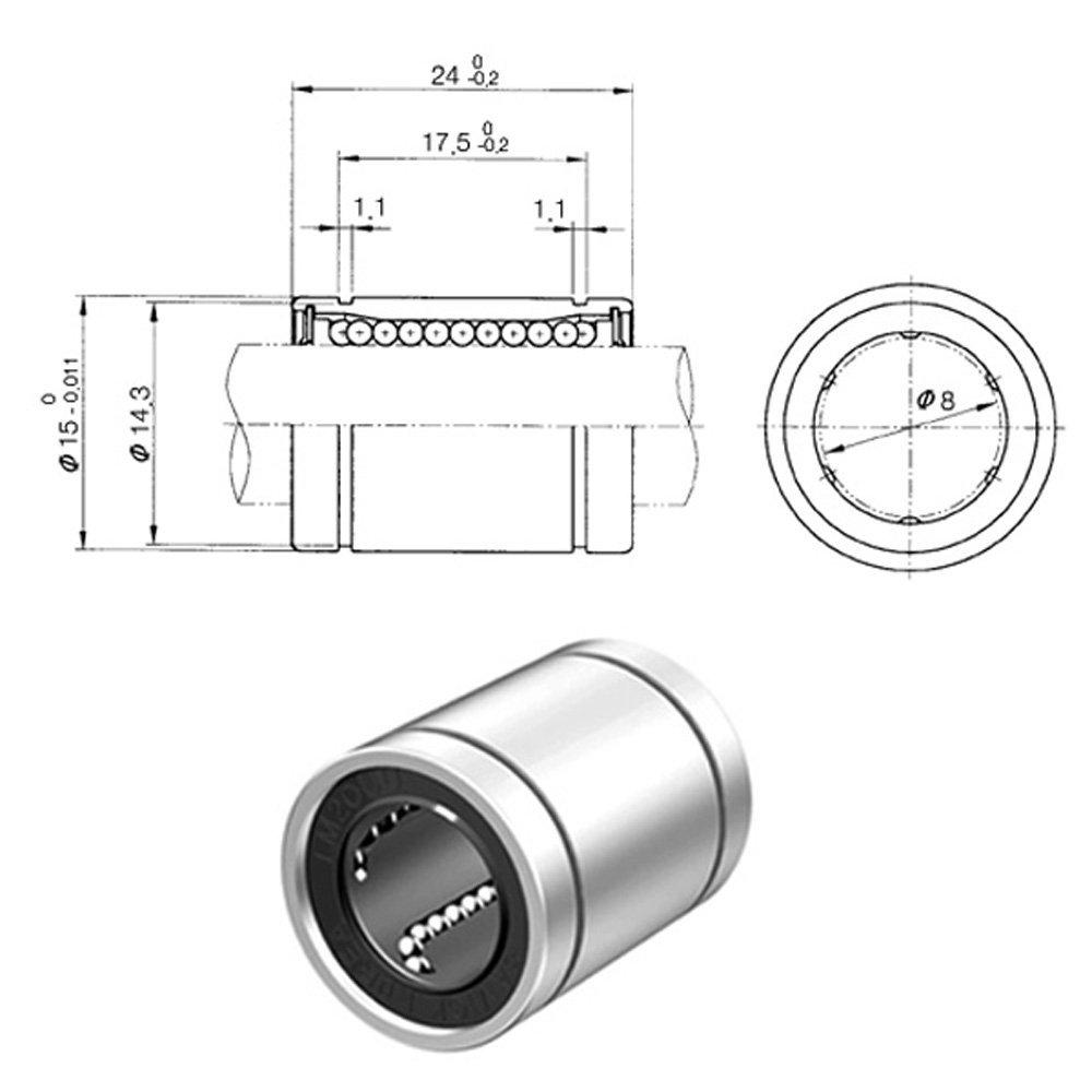 Buy Lm8uu 8mm Linear Ball Bearing Ifuture Technology