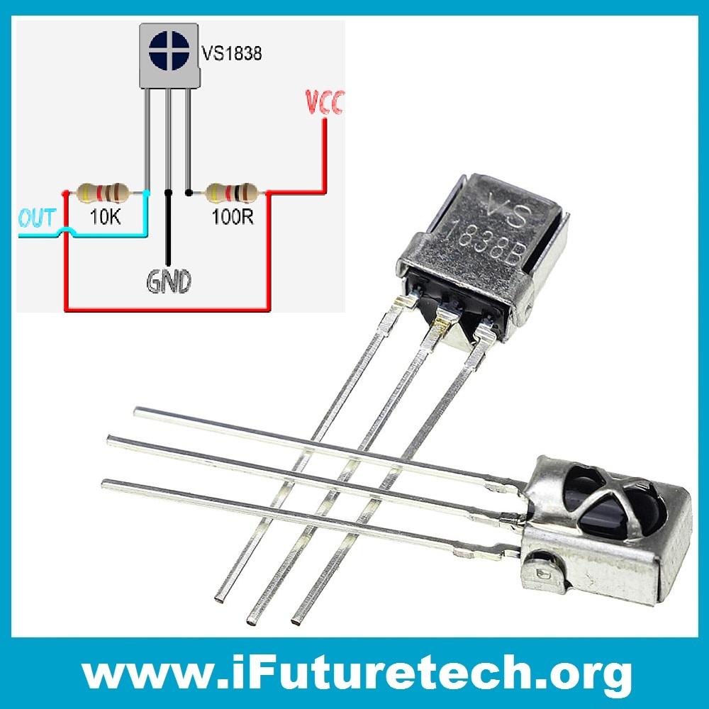 IR Receiver VS1838B Diode Infrared 38khz Module Remote TL1838 VS1838